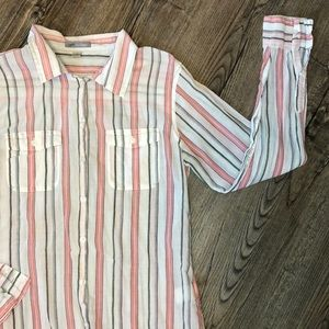 Horny Toad Womens Stripped Button Down - Size S